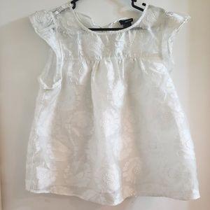 L White Lace Babydoll Top